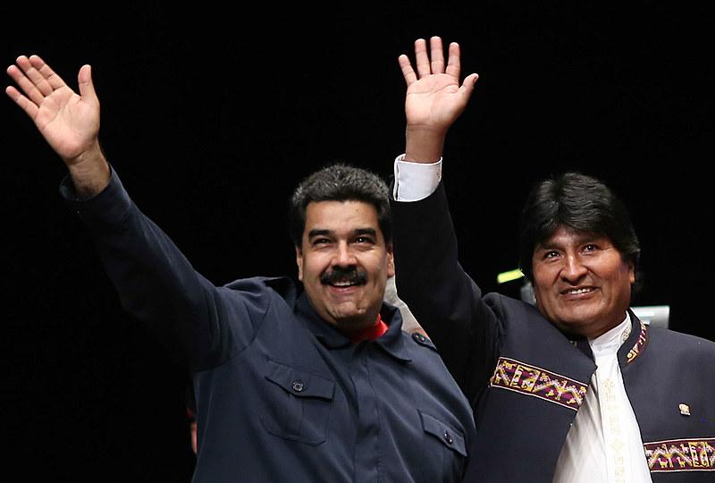 Maduro e Morales enviaram mensagens de solidariedade a Dilma e qualificando o impeachment de golpe