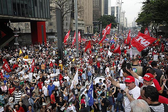Imagen de la protesta del domingo 11 de septiembre en São Paulo