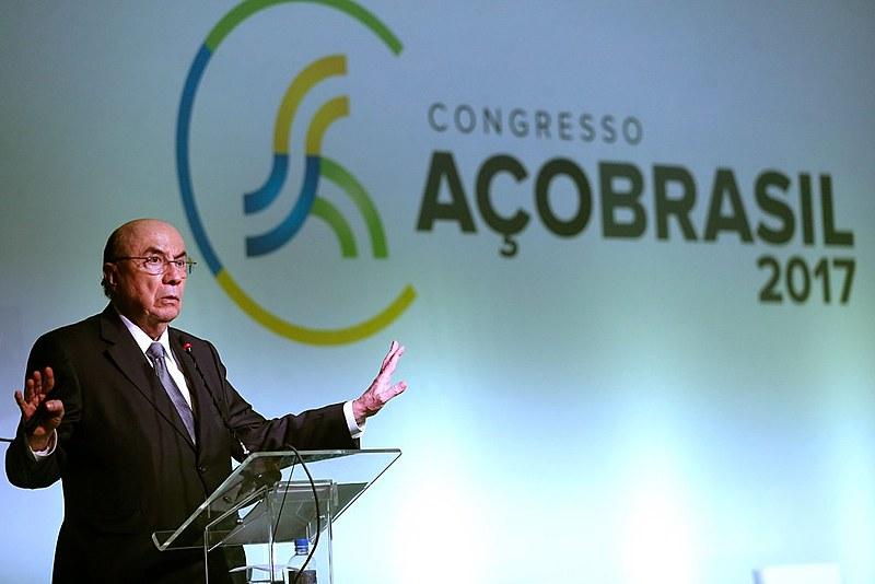 Henrique Meirelles, no 1º Fórum de Simplificação e Integração Tributária em agosto