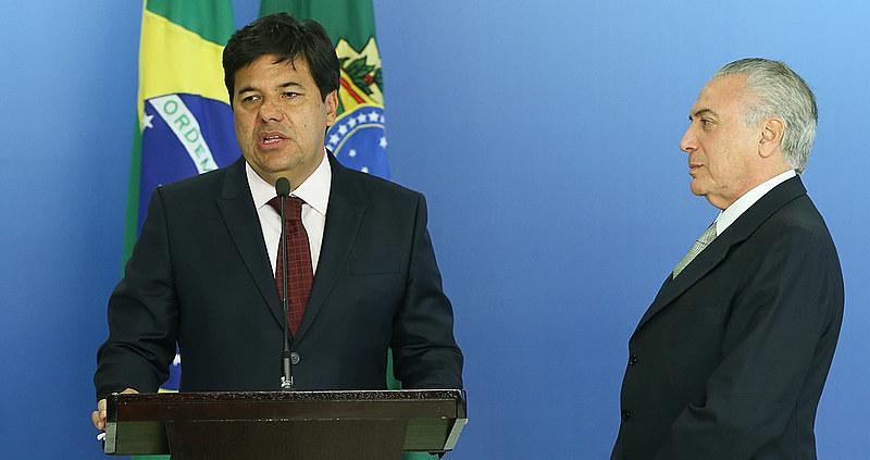 Ministro da Educação, Mendonça Filho, e Michel Temer (PMDB)