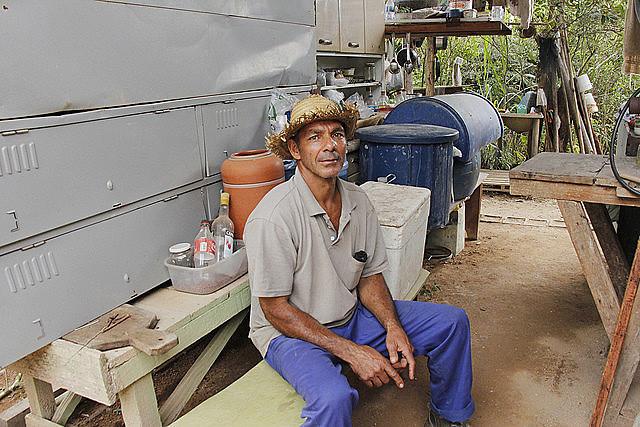 Lavrador Lúcio da Silva Pimenta, um dos desalojados pela Anglo American