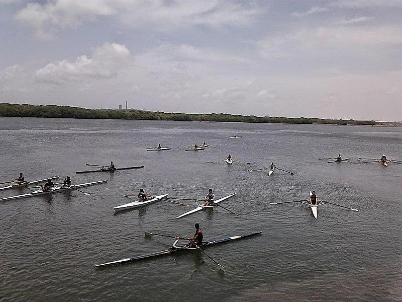 Foi nas águas do Potengi que surgiram práticas esportivas como o remo na capital potiguar