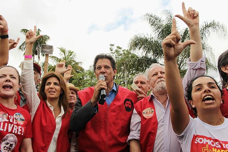 Visita de Haddah ao Lula na sede da PF e Vigília Lula Livre na segunda-feira (1)