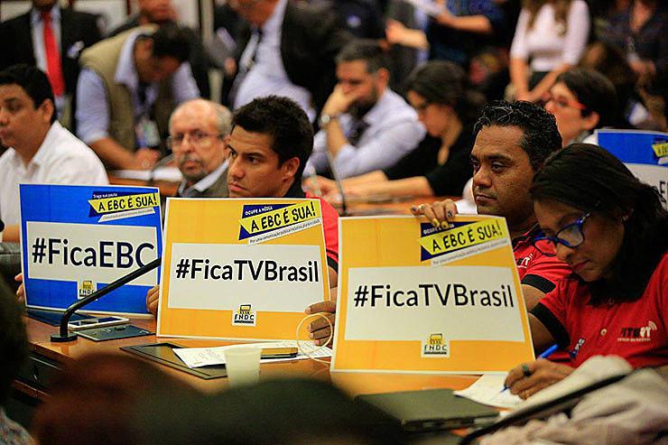 Trabalhadores lutam contra o desmonte da Empresa Brasil de Comunicação