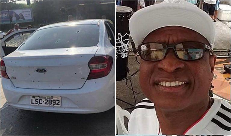 A vítima, Evaldo dos Santos Rosa, morreu na hora do crime