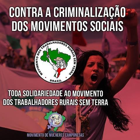 arte do Movimento de Mulheres Camponesas em apoio ao MST