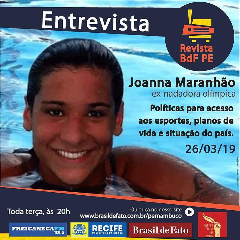 Joanna Maranhão falou também sobre machismo e sexismo na cultura esportiva do país
