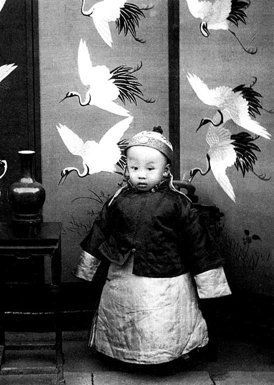 Retrato de Pu Yi em 1910