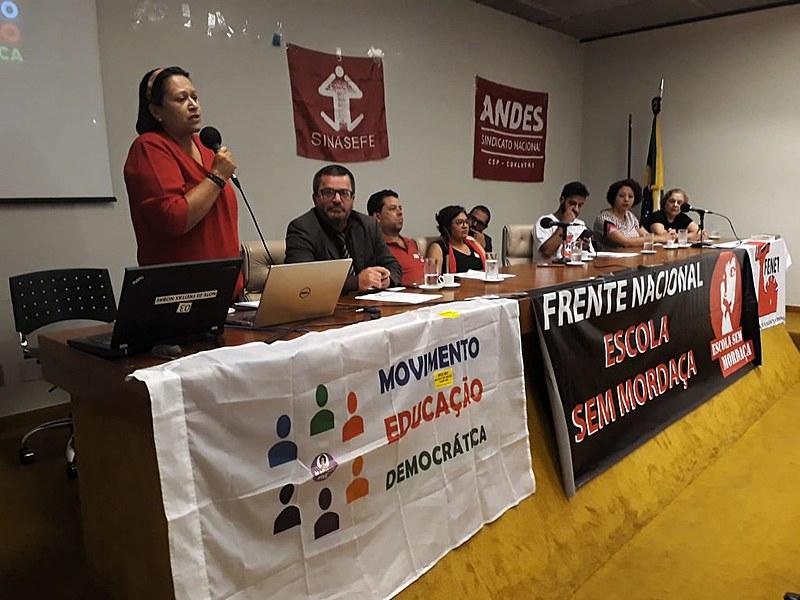 Relançamento da Frente Nacional Escola sem Mordaça, na Câmara dos Deputados, em Brasília (DF)