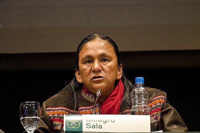 Milagro Sala foi presa em janeiro de 2016 e diversos organismos internacionais consideram sua prisão arbitrária