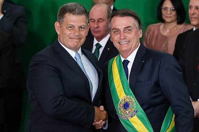 Bolsonaro e Bebianno durante a posse presidencial.