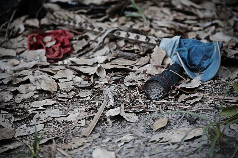 Cena do crime onde ocorreu o Massacre de Pau d'Arco, há seis meses, continua intacta