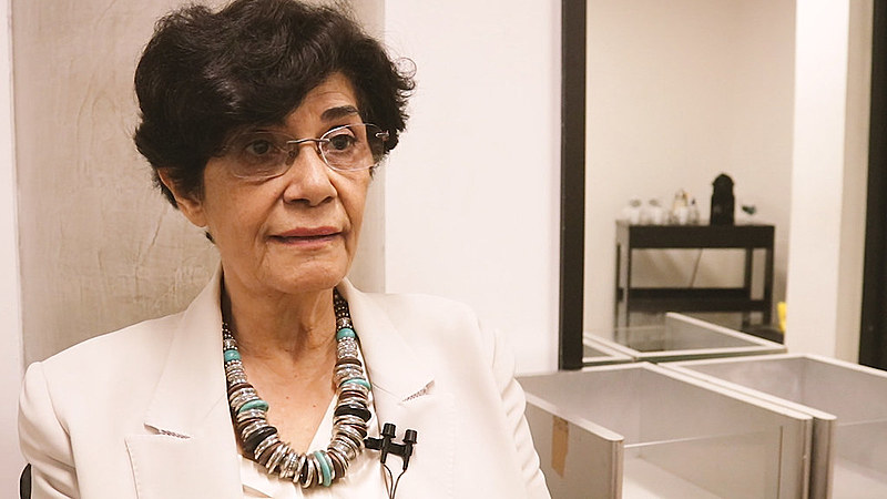 "Marilena Chauí concedeu entrevista ao Brasil de Fato durante o evento ""Democracia em Colapso"", organizado pela editora Boitempo"
