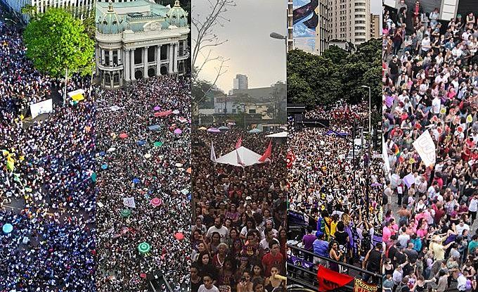 Atos massivos aconteceram em Belo Horizonte, Rio de Janeiro, Porto Alegre, Curitiba, Recife e São Paulo (SP)
