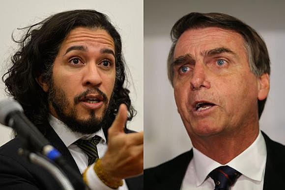 Deputados federais Jean Wyllys e Jair Bolsonaro