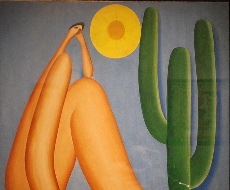 """""""Abaporu"""", pintura a óleo da artista Tarsila do Amaral, obra icônica do movimento antropofágico brasileiro"""