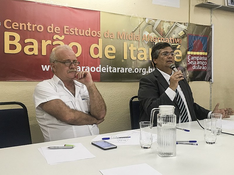 Governador do Maranhão participou de uma coletiva de imprensa com jornalistas de mídias progressistas, em São Paulo