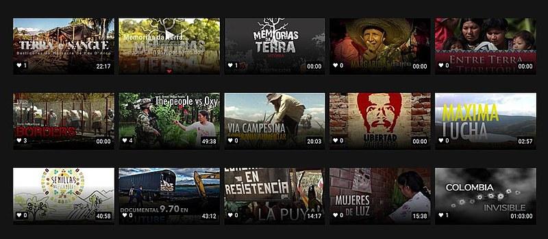 """Na categoria """"Luta Pela Terra"""" estão produções brasileiras como """"Terra e sangue"""" e """"Margaridas, luta e pé na estrada"""""""