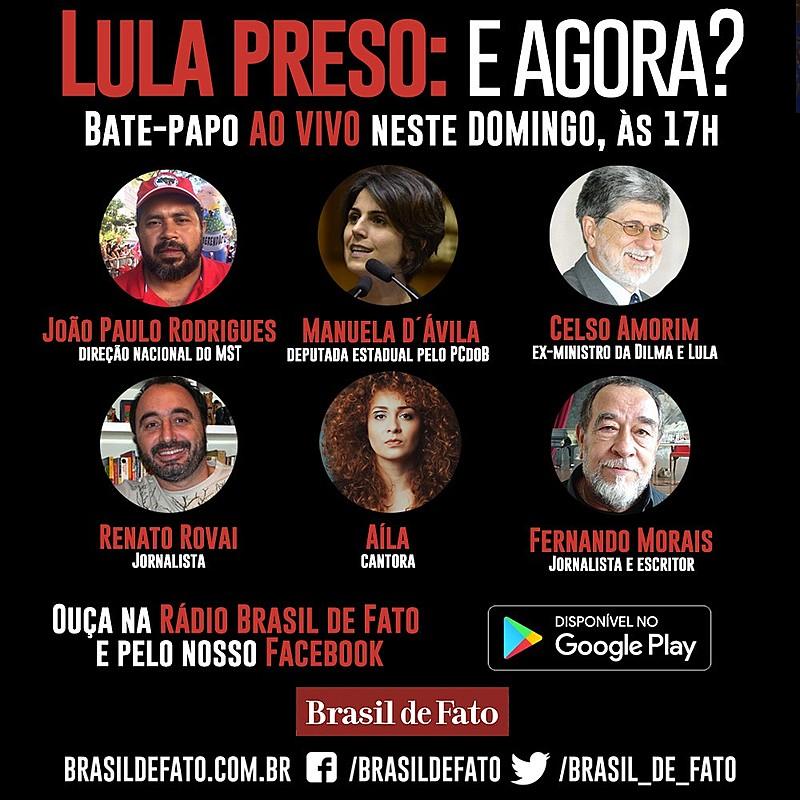 Programação do debate realizado pela Rádio Brasil de Fato neste  domingo (08)