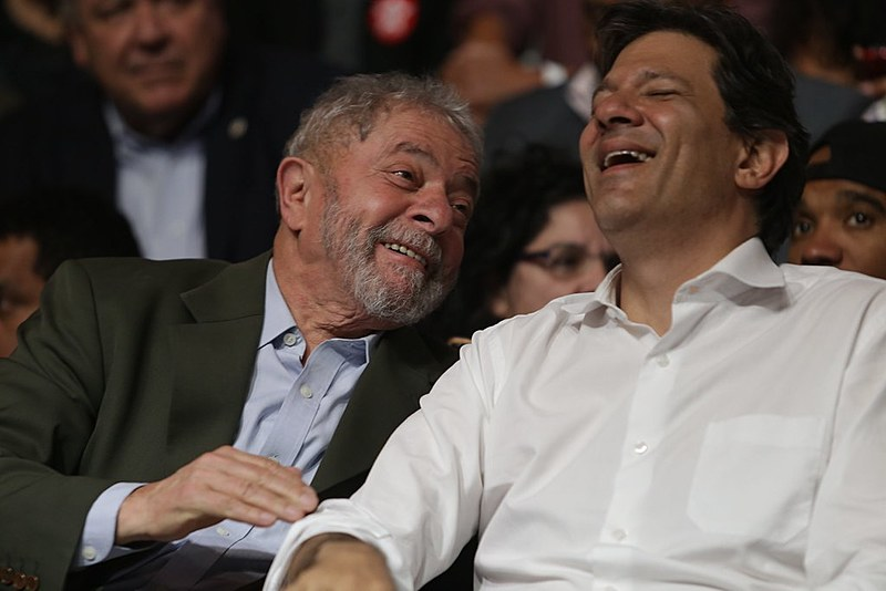 Lula e Fernando Haddad, durante campanha para as eleições municipais