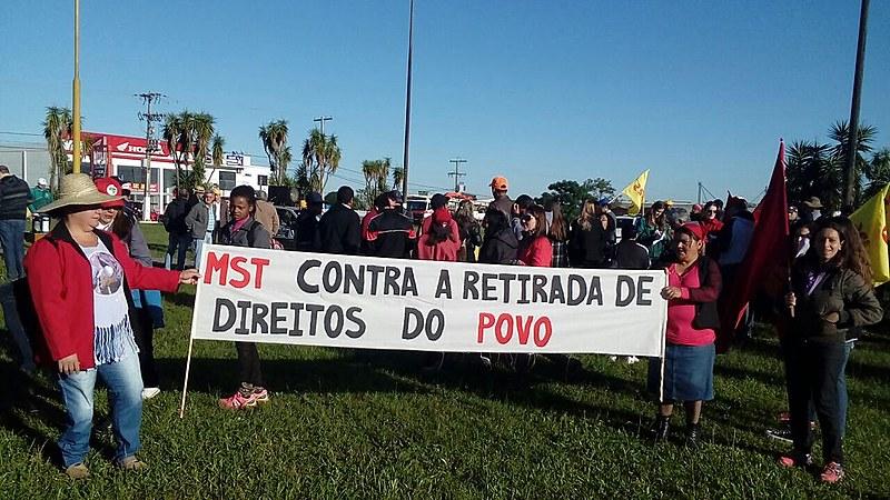 Em Porto Alegre foram realizadas mobilizações em diversos pontos da cidade