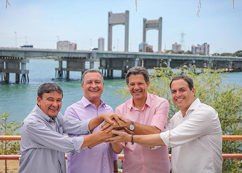 Nordeste elege aliados de Fernando Haddad: Wellington Dias (PT), Rui Costa (PT) e Paulo Câmara (PSB).