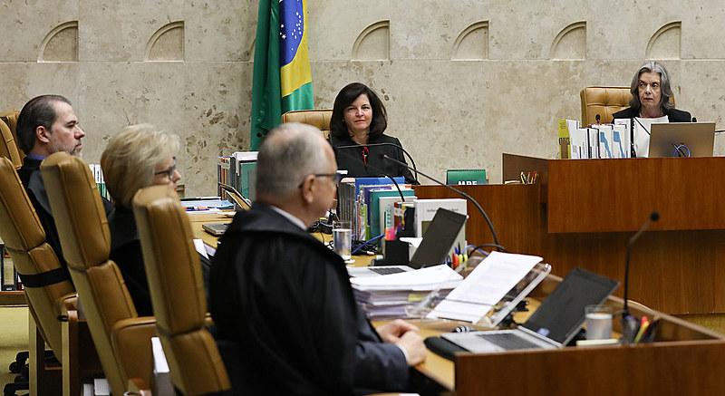 Sessão desta quarta-feira (4) no Supremo Tribunal Federal, que deliberou sobre pedido de habeas corpus do ex-presidente Lula