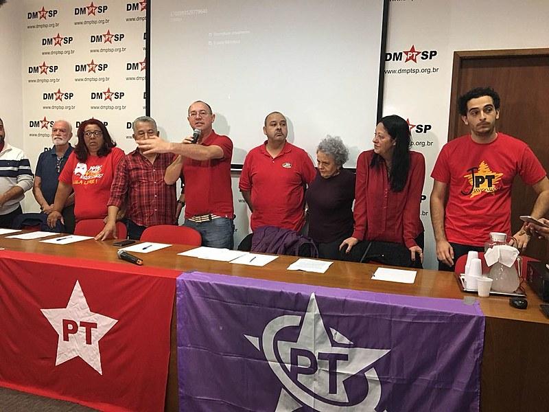 Lançamento da pré-candidatura de Lula pelo PT