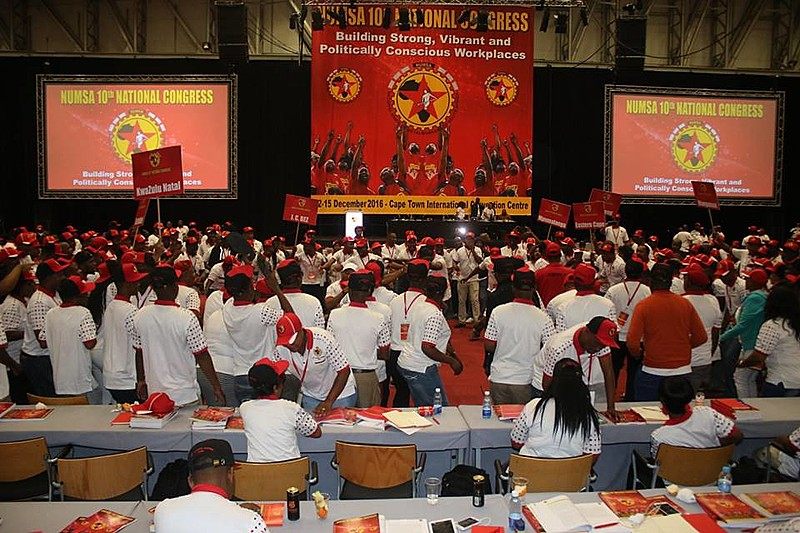 10º Congresso Nacional do Sindicato Nacional dos Metalúrgicos da África do Sul (Numsa), o maior sindicato no país