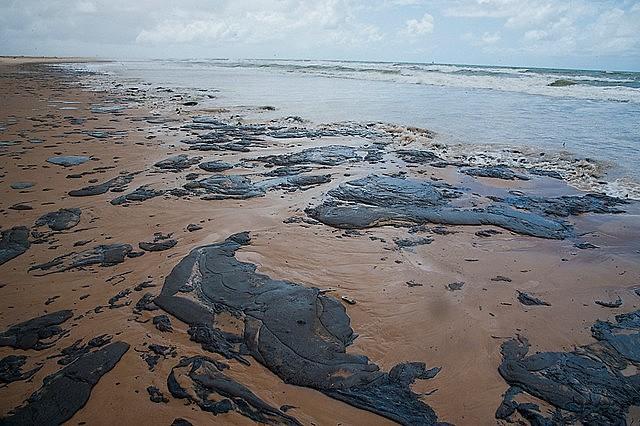 O derramamento atingiu o litoral nordestino e o numero de praias afetadas é crescente