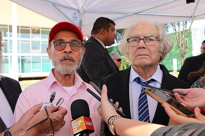 Osmar Prado (esq.) fez parte de comitiva que visitou presidenta do STF na semana passada. À direita, o Nobel da Paz Adolfo Perez Esquivel