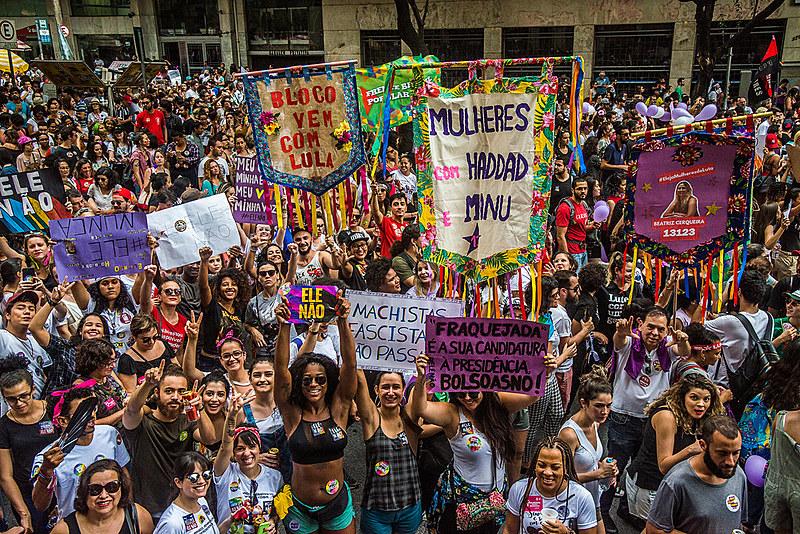 Manifestação dá seguimento a do dia 29/10 e será realizada para dizer sim à candidatura de Fernando Haddad (PT) e Manuela D'ávila (PCdoB)
