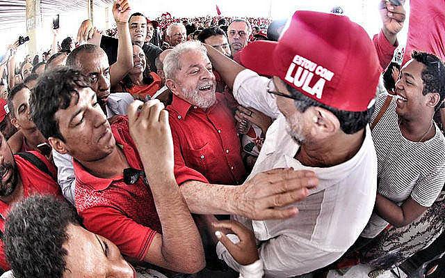 Em 2017, movimentos populares realizaram diversas ações em defesa de Lula