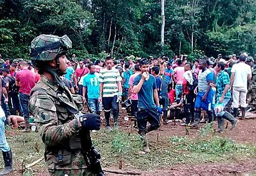 Camponeses se mobilizavam de forma pacífica desde o dia 28 de setembro para denunciar o descumprimento dos Acordos de Paz