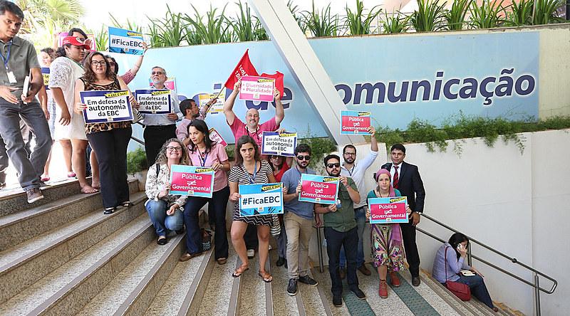Protesto do Conselho Curador da EBC contra a extinção do orgão de controle social