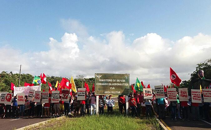 Movimentos populares protestam contra acordos de entrega da Base de Alcântara para os EUA