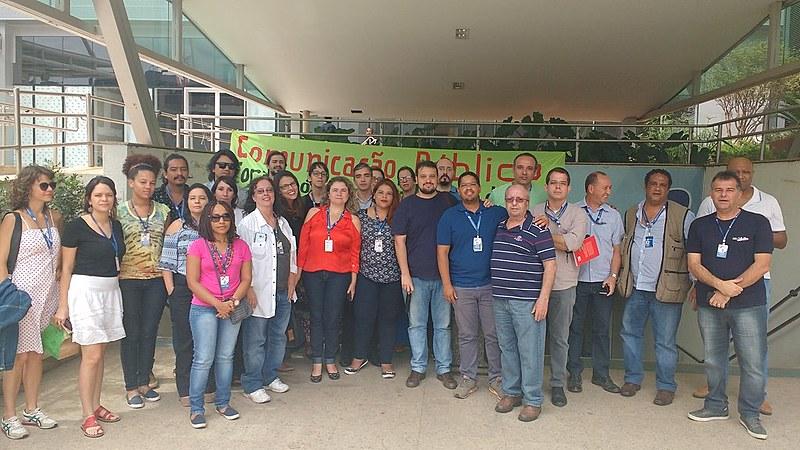 Em Brasília, funcionários da EBC se mobilizam em ato por melhores condições de trabalho