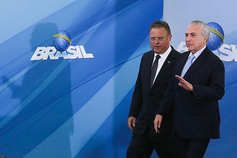 Michel Temer e o ministro da Agricultura, Blairo Maggi