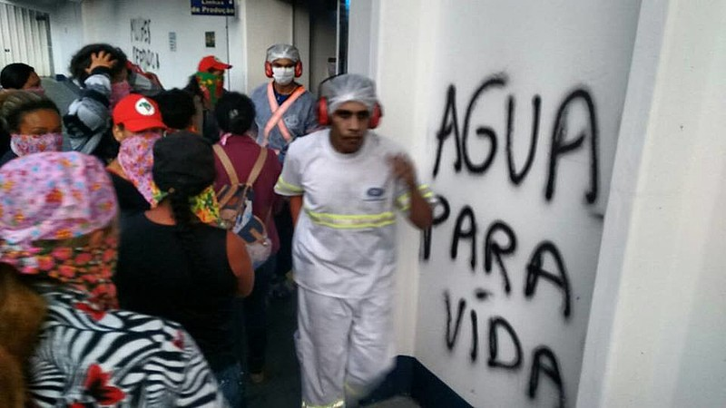 A ação contou com 600 militantes em mais um ato da Jornada Nacional de Luta das Mulheres
