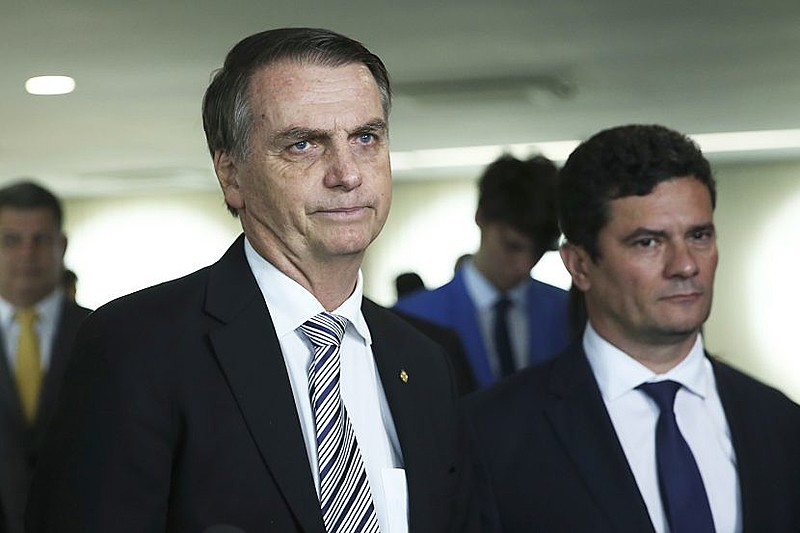 Bolsonaro e o ministro da Justiça e da Segurança Pública, Sergio Moro