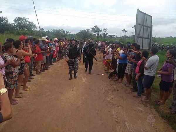 Operação da Polícia Militar no acampamento Hugo Chávez, do MST, em Marabá, no Pará