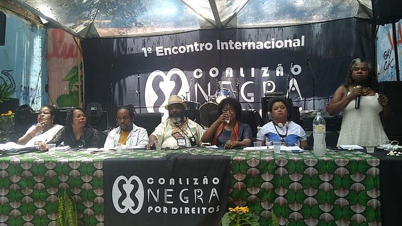 A mesa de debate foi composta por Vilma Reis, Sandra Maria, Maurice Mitchell, Edson França, Dulce Pereira, Monica Oliveira e Rose Torquato