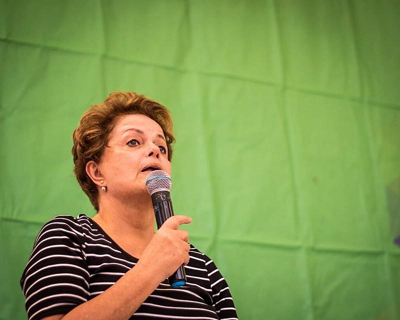 A ex-presidenta na Escola Nacional Florestan Fernandes neste sábado (30)