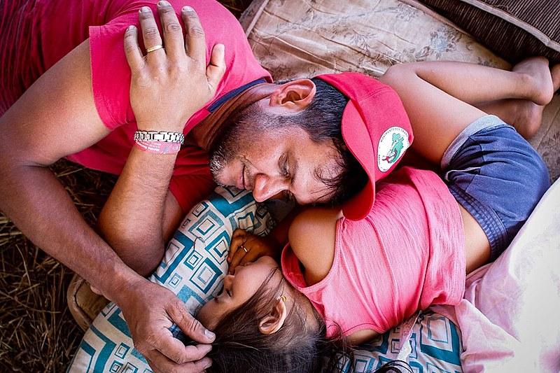 """Jonimar, pai da Raquel: """"A gente muda muito quando é pai. Essa luta aqui é pra ela""""."""