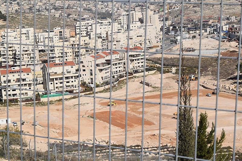 Construção do assentamento de Har Homa, na Cisjordânia