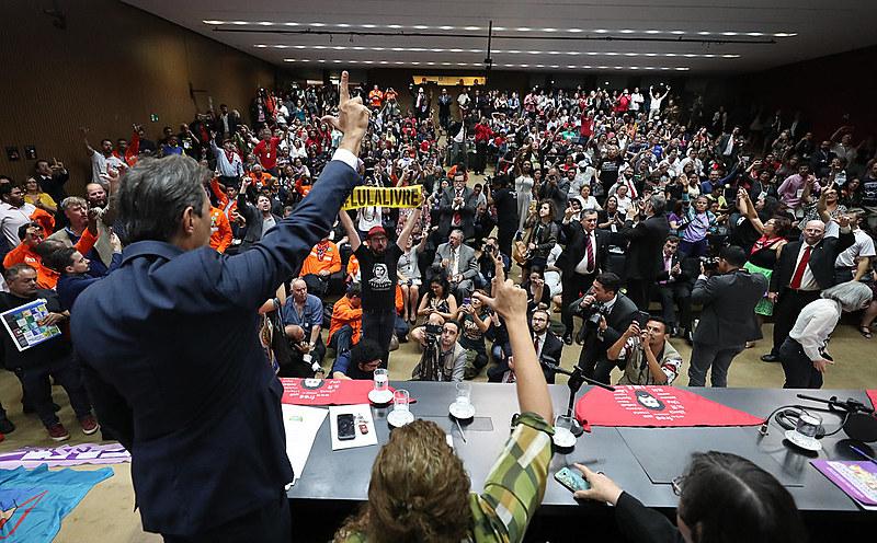 Evento de lançamento da Frente Popular e Parlamentar em Defesa da Soberania Nacional na Câmara dos Deputados, em Brasília (DF)