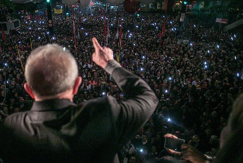 Ex-presidente discursou em manifestação convocada pela Frente Brasil Popular e Povo Sem Medo