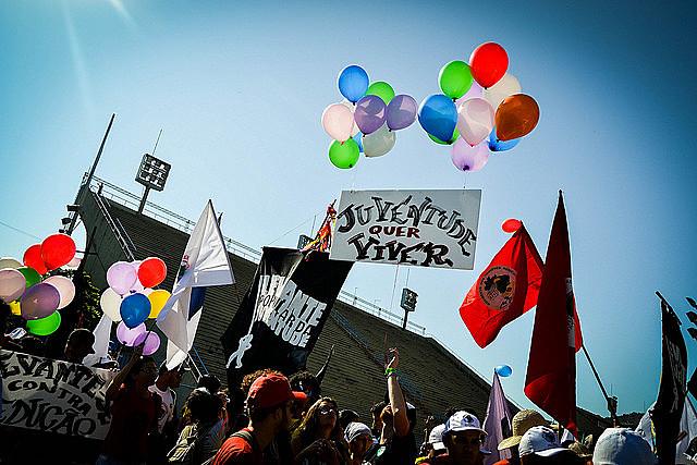 Em uma atividade da calourada da USP, pudemos refletir sobre o papel dos jovens no atual momento político no Brasil e no mundo