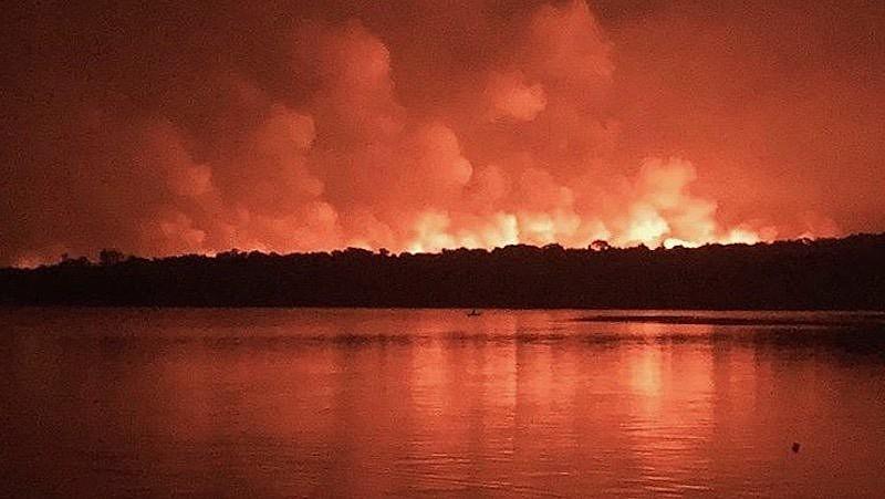 O incêndio em Alter do Chão queimou área equivalente a 1.600 campos de futebol em setembro