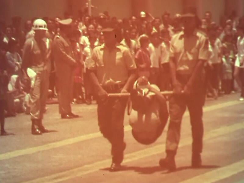 Guarda rural indígena: a foto mostra a formatura de 84 indígenas, em 1970, treinados pelo regime militar para realizar repressão nas aldeias